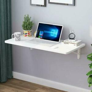 Wall Mount Floating Folding Computer Desk For Home Office PC Table Furniture