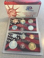 **BEST PRICE** 2003 US MINT SILVER PROOF SET OF 10 COINS