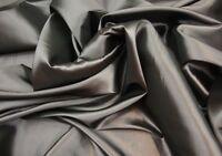 "Taffeta Solid Fabric PEWTER / 58"" Wide / Sold by yard dress gown curtains"