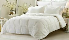 Full Size All Season Down Alternative Comforter Egyptian Cotton Ivory Striped