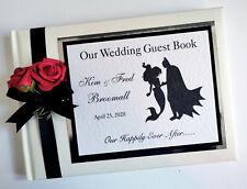 Batman and Ariel personalised wedding guest book, Batman and Ariel album