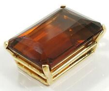 14K Gold ~20 carat EMERALD CUT CITRINE~ Pendant