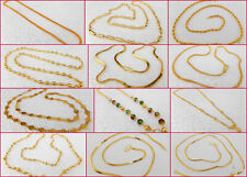 South Indian Jewelry Ethnic Gold Plated Necklace Chain Beautiful 22k Light Mala