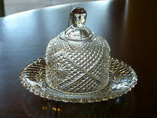 RARE! VINTAGE AVON GLASS DOMED BUTTER OR CHEESE DISH!