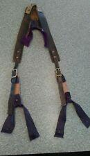 Leather, cowhide, suspenders,braces, old west, civil war, 1800s