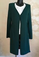 White Stuff Green Soft Knit Boyfriend Long Length Coat Cardigan U.K 12 14 BNWT