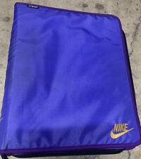 Vtg mead/nike Collab School Binder 3 Ring Notebook 1995 Purple Trapper Keeper