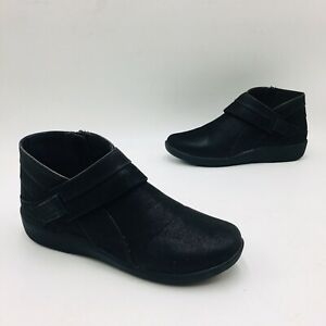 Clarks Cloudsteppers Women's Sillian Rani Exposed Ankle Bootie Size 7.5M Black