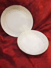 "Vtg. 12"" Platter / Chop Plate & 10"" Bowl By Kyoto ""Patrice 6074"" MADE IN JAPAN"