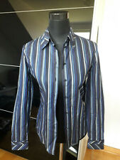 Designer-Bluse der Marke Feraud Club, Gr. 32, blau/grau/schwarz gestreift.