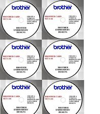 BROTHER CARDS 1- 66 BUY ANY 2 CDS & GET FREE FONT CD,  FREE SOFTWARE PES FEB1