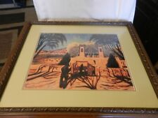 Chimayo Chapel by Ed Sandoval 1996, Giclee Print, Signed, Framed, Matted