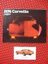 1976 Chevrolet CORVETTE sales brochure AND dealer postcard