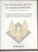 The 50 Greatest Events In American History Mint-Stamp Panels RET. $792.00 (LR501