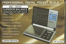 SUPERIOR BALANCE BC-200 200g x0.01g DIGITAL JEWELRY SCALE WITH AUTO CALIBRATION