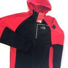 The North Face Mack Eaze FZ Hooded Jacket Size Medium Sports Coat Red Black NWT