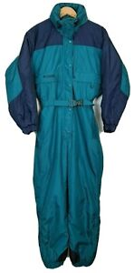 Columbia Womens Size S Vintage 90's One Piece Insulated SNow Suit Pants Jacket