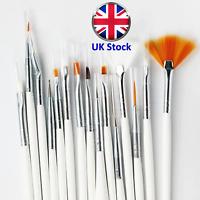15 Pcs Set Artists Brushes Watercolour Acrylic Oil Face Paint Craft - UK Stock