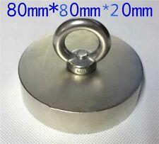 180 kg Super new NdFeB Powerful big Round Neodymium Disc Magnets N52 D80x20mm