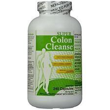 Health Plus SUPER COLON CLEANSE 500 mg - 240 caps - Relieve Constipation DETOX