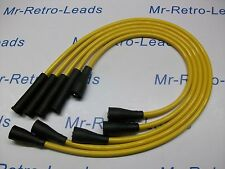 YELLOW 8MM PERFORMANCE IGNITION LEADS FITS FIAT 124 SPORT 124 SPIDER 125 132 HT