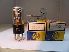 1x 3533 valvo (b4, a, 4a) 1914 France NOS/NIB NEW tube tube valvola cellule photo