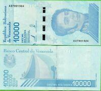 VENEZUELA 10,000 10000 BOLIVARES SOBERANO 2019 P NEW DESIGN UNC