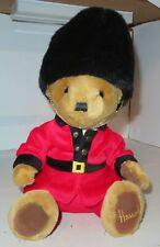 "Harrods Knightsbridge Teddy Bear brown London Plush Royal Guard 12"" Red Suit GUC"