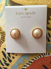 Kate Spade Statement Style Pearl Button Roped Trim Stud Earring CUTE!
