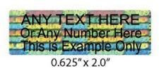 """100 5/8"""" x 2"""" SVAG Hologram CUSTOM PRINT Tamper Evident Labels Sticker Seals"""
