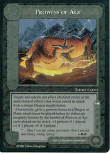 MIDDLE EARTH THE DRAGONS RARE CARD PROWESS OF AGE