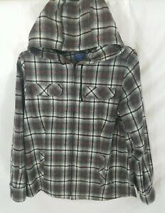 Pendleton Multicolor Plaid Full-Zip Hooded Wool Jacket Women XL