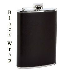 """Maxam 8oz Stainless Steel Flask With Black Wrap 5-3/4"""""""