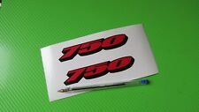 GSXR 750 logo Badge Track bike or road fairing Decals Stickers PAIR #208