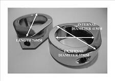 41mm diameter Chrome Harley Davidson fork mount Indicator Relocation Brackets