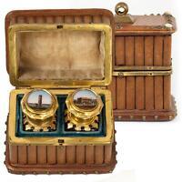 Antique French Grand Tour Souvenir Scent Box, Casket, Perfume, Eglomise of Paris