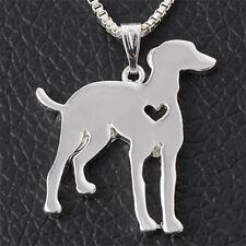 Kette m. Anhänger silber Windhund Afghane Hund Valentins Geschenk Halskette NEU