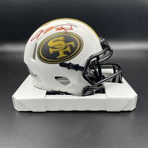 Vernon Davis Signed Autographed SF 49ers Lunar Eclipse Mini Helmet Beckett BAS