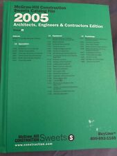 *2005 McGraw-Hill Construction Sweets Catalog File Vol 9 Professionals Edition
