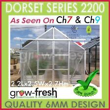 6mm ALUMINIUM POLYCARBONATE Garden GREENHOUSE Shade GREEN HOT HOUSE Shed 2.2S