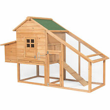 """BCP 75"""" Wooden Chicken Coop Backyard Nest Box Wood Hen House Poultry Cage Hutch"""