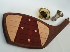 GOLF CLUB WOOD CUTTING BOARD THE GOLDEN TEE ASHTRAY MORRO BAY BALL SHOT GLASS