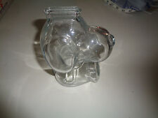Vintage Clear Glass Snoopy Bank