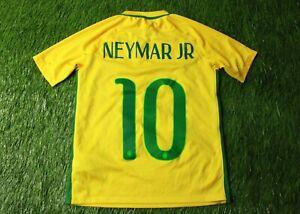 BRAZIL TEAM NEYMAR JR 2016//2018 FOOTBALL SHIRT JERSEY HOME NIKE ORIGINAL YOUNG