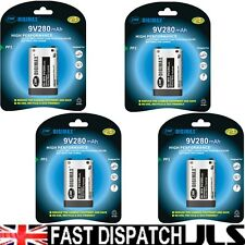 4 x DIGIMAX 9V 280mAh Ni-MH rechargeable batteries PP3