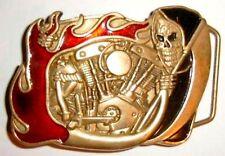 149 * reaper Boucle de ceinture biker gothique tete de mort skull belt buckle