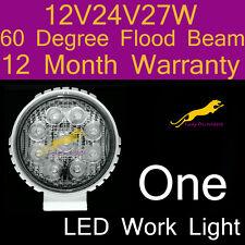 One LED Work Light flood beam lamp 12V/24V/27W/6500K/60 Degree 1yr warranty WR27