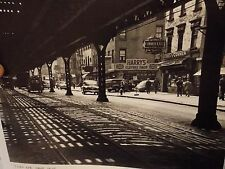 1950s 3 Av Bowery EL Subway George's Corner NYC New York City Photo 8 x 10