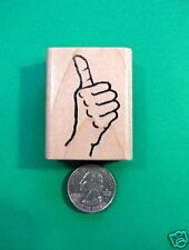 Thumbs Up/Down Rubber Stamp, wood mounted