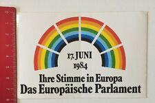 Pegatina/sticker: el Parlamento Europeo-voz en Europa'84 (190516163)